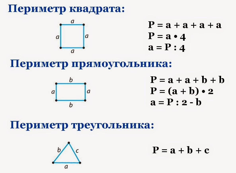 Задачи по математике 3 класс на нахождение периметра