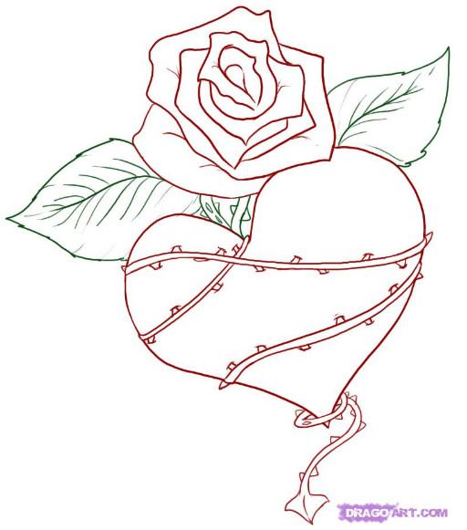 Love Graffiti Sketches Sketch Graffiti Heart Flower
