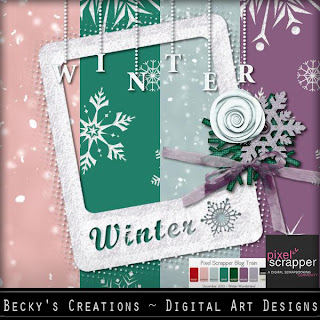 Pixel Scrappers Dec BT Winter Wonderland Freebie