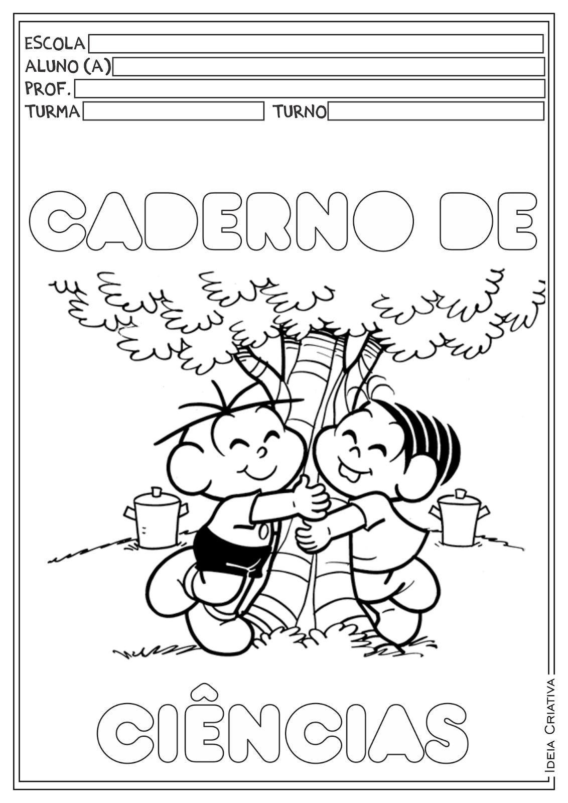 Capas para Cadernos Turma da Mônica