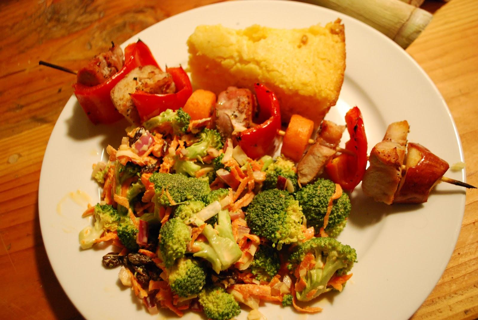 Beef, Orange Broccoli Kebabs picture