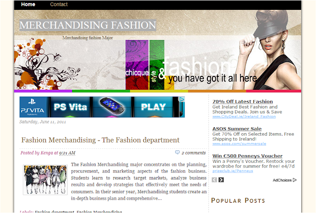 Fashion Theme Blogger Template
