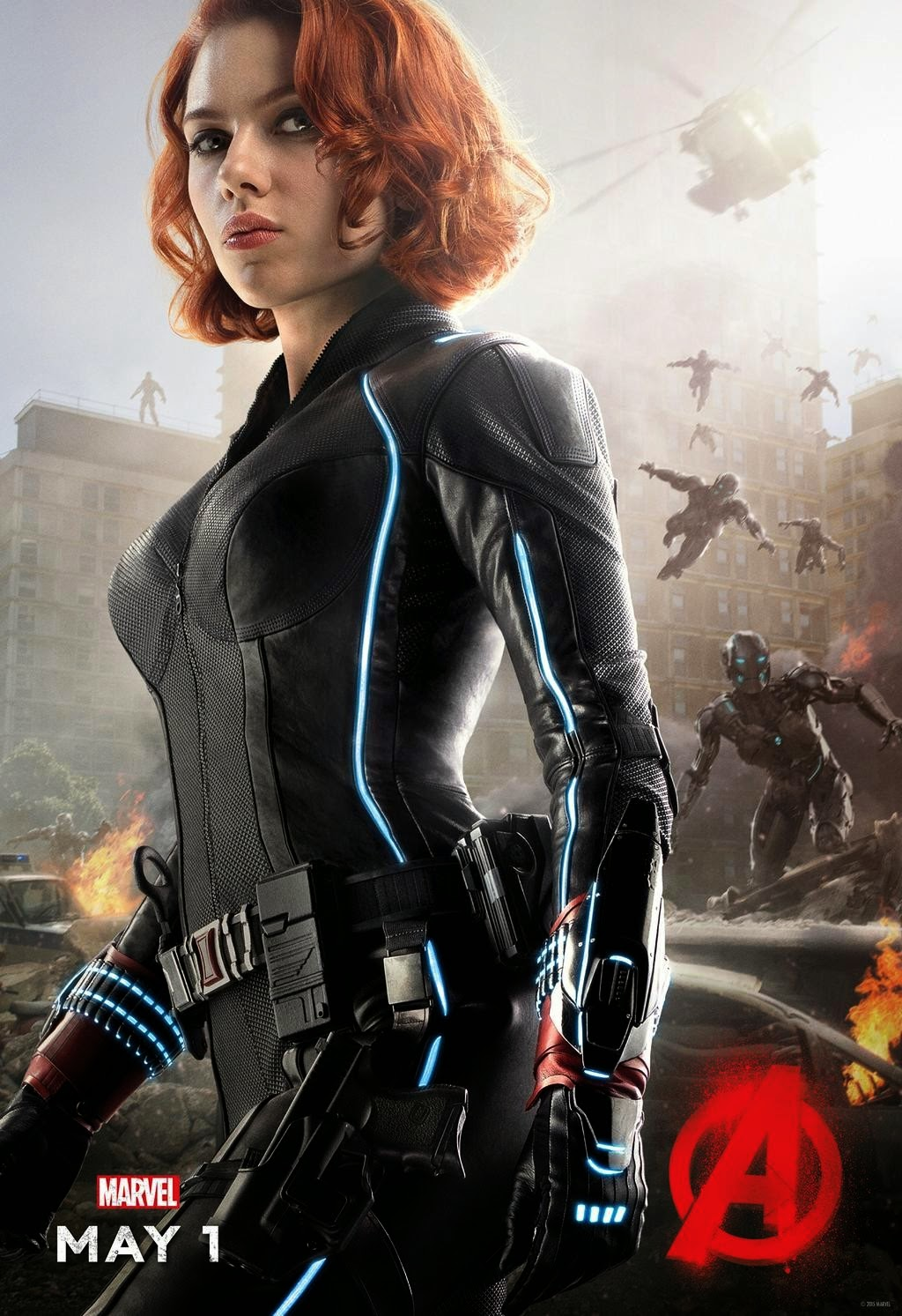 Marvel's Avengers Age of Ultron Character Movie Poster Set - Scarlett Johansson as Black Widow
