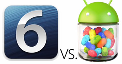 Comparison of 3D Maps, in iOS 6 and on the Google Earth in Android 4.1 Jelly Bean