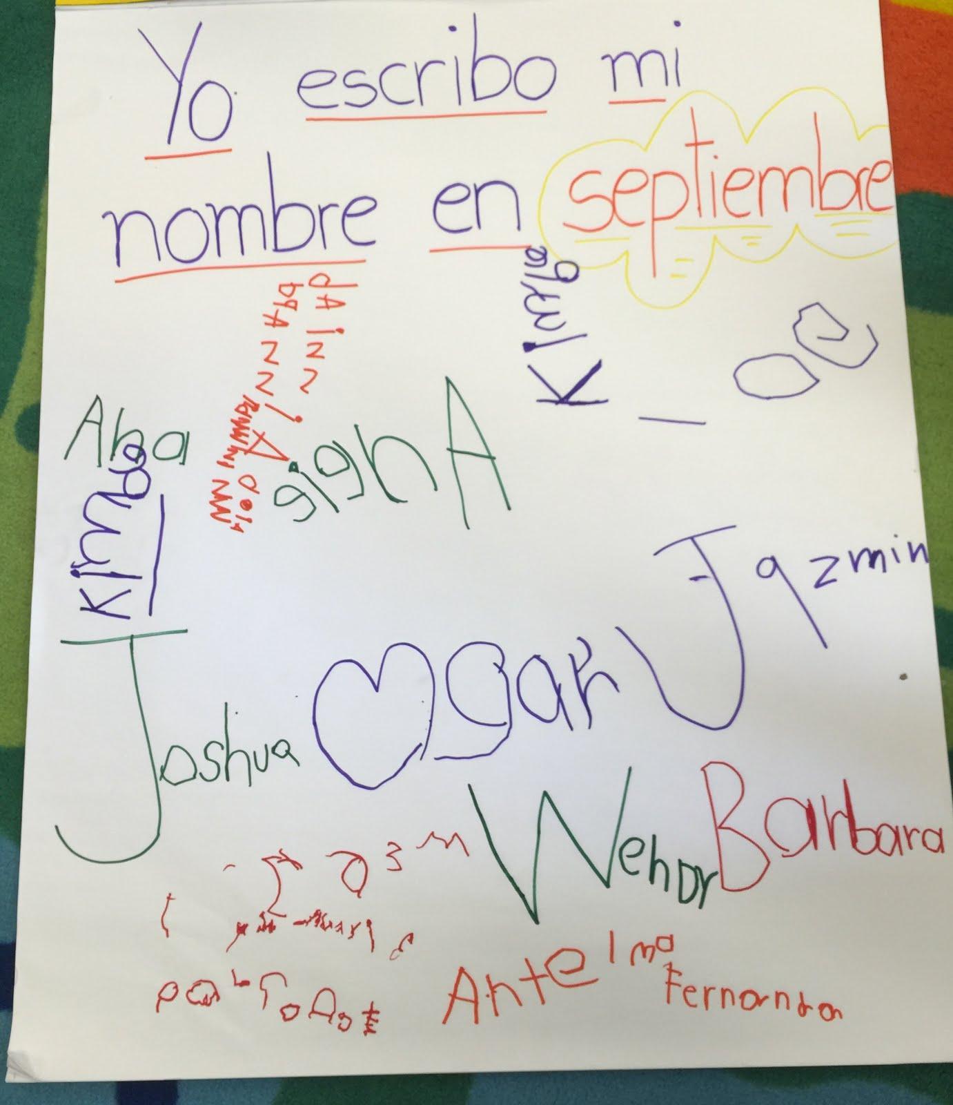 Así escribimos nuestro nombre en septiembre