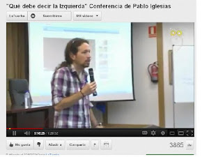 Conferencia de Pablo Iglesias, muy interesante.