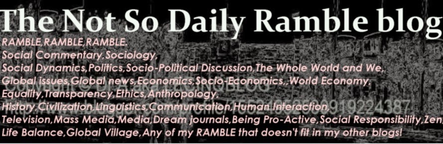 The Not So Daily Ramble blog
