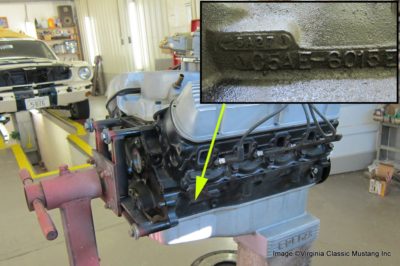 Virginia Classic Mustang Blog: Just the Details...289 Engine Date Codes