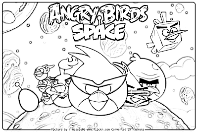 Big bird coloring pages to print for Angry birds space coloring pages to print