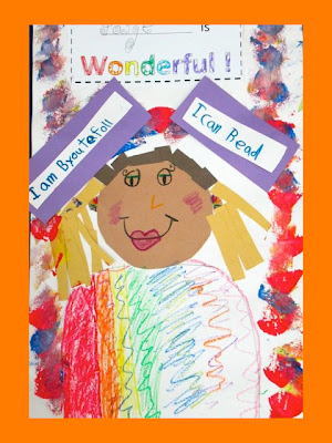 You     re Wonderful quot  INDEED  Children     s Kinder Art Response     DrSeussProjects   blogger Kindergarten Self Portraits in Response to picture book  amp  song  quot You     re Wonderful