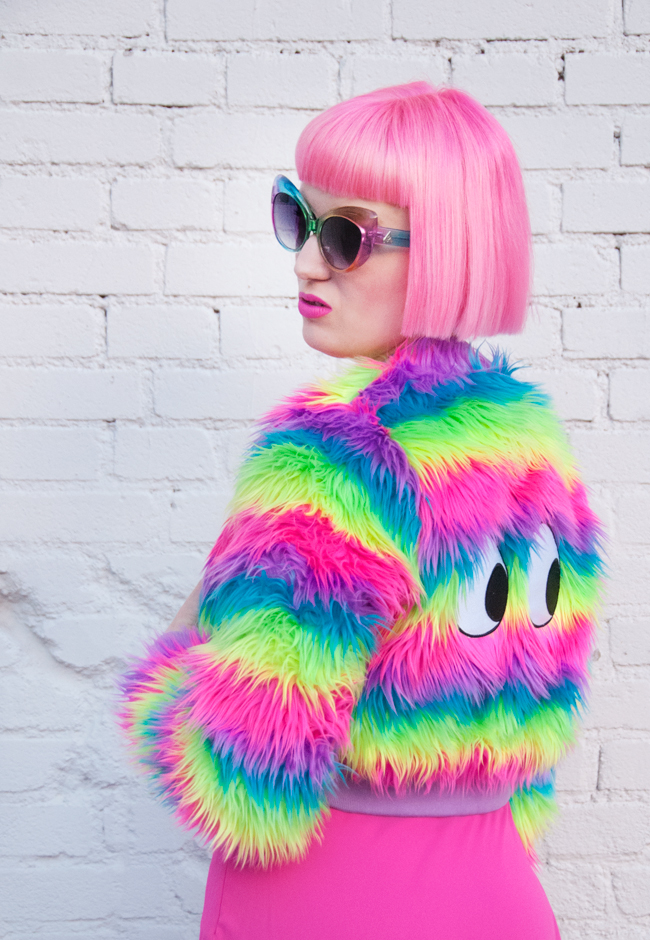 lazy oaf, disco girl, rainbow look