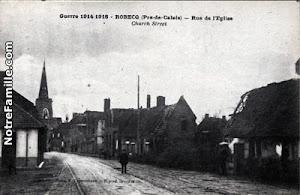Village de Robecq (Pas-de-Calais) durant la Première Guerre mondiale