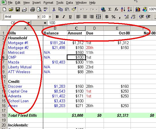 even for utilities if you sign up for a budget plan the screenshot below is a great example of how you can create a simple budget format in excel