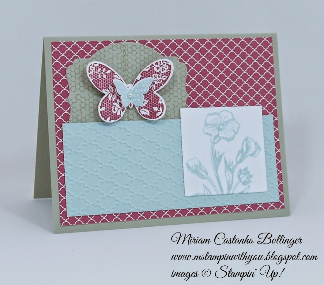 Miriam Castanho Bollinger, #mstampinwithyou, stampin up, demonstrator, ccmc348, sc533, regals collection dsp, butterfly basics bundle, big shot, deco labels collections, bitty butterfly, fancy fan tief, su