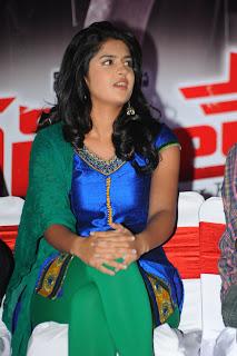 Deeksha Seth spotted in Silk Salwar at Veedinthe Audio Launch