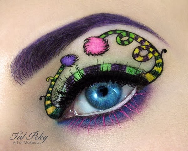 Eye Art Design : The flying tortoise beautiful creative eye art by make up