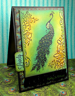 card, Couture, floral frames, Graphic 45, peacock, Tim Holtz,