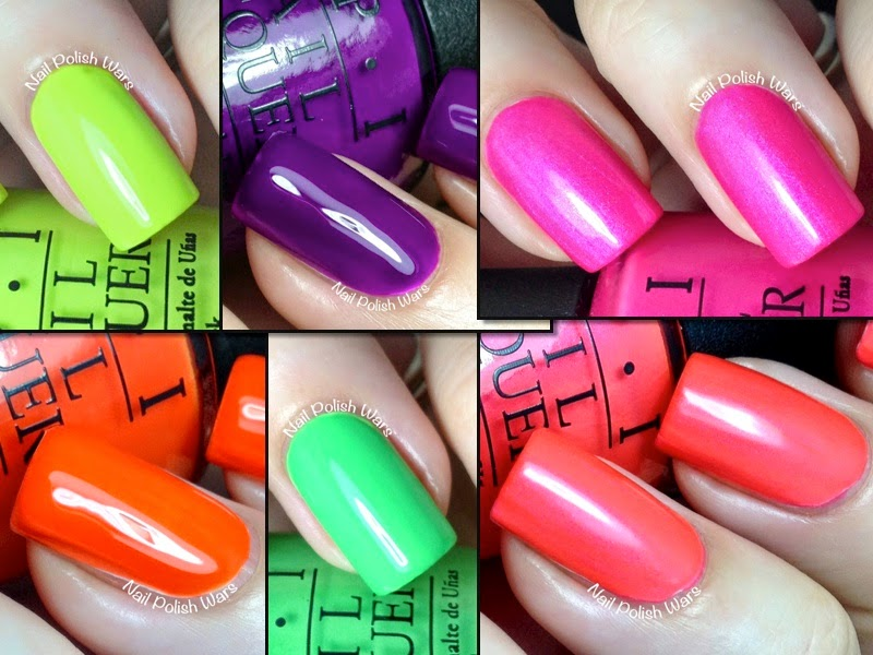 Nail Polish Wars: Neons by OPI Collection Swatch & Review