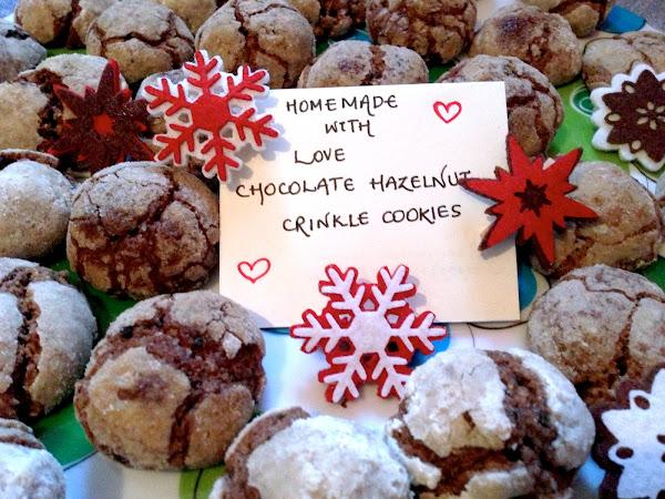 Chocolate Hazelnut Crinkle Cookie
