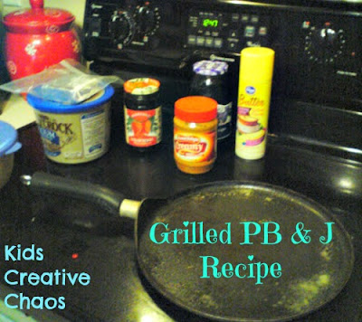 Grilled PB & J Peanut Butter and Jelly Recipe Warm for Kids