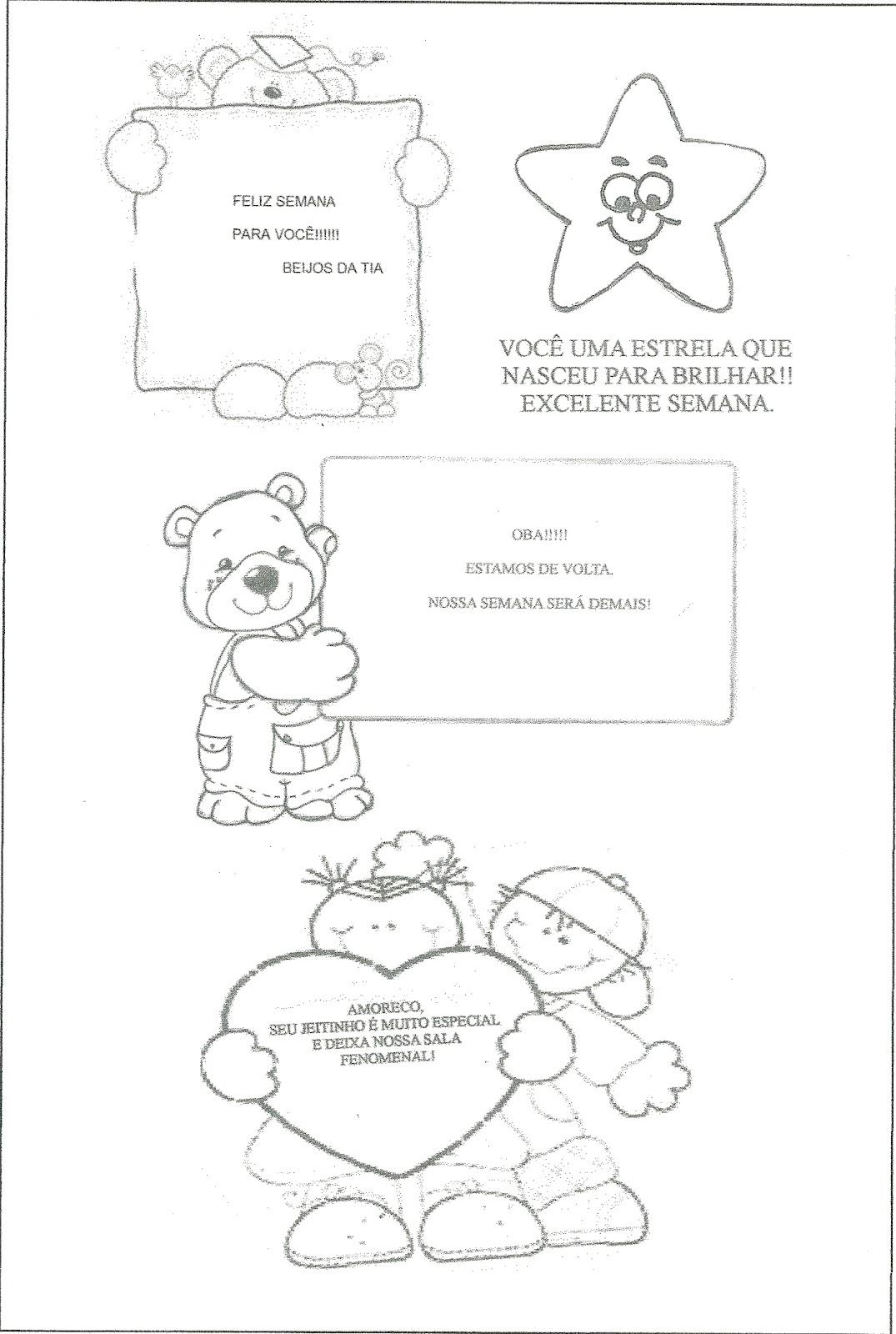 Tia Marcinha Recadinhos Para Agenda Escolar