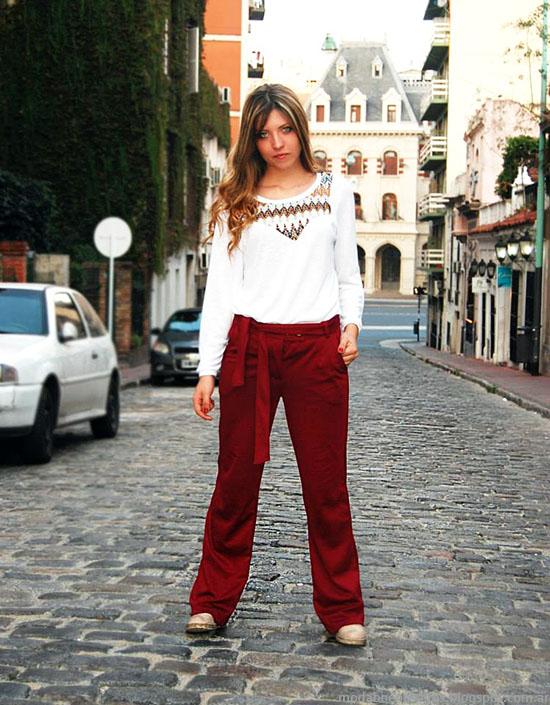 Pantalones de moda mujer 2015 Étnica. Moda mujer invierno 2015.