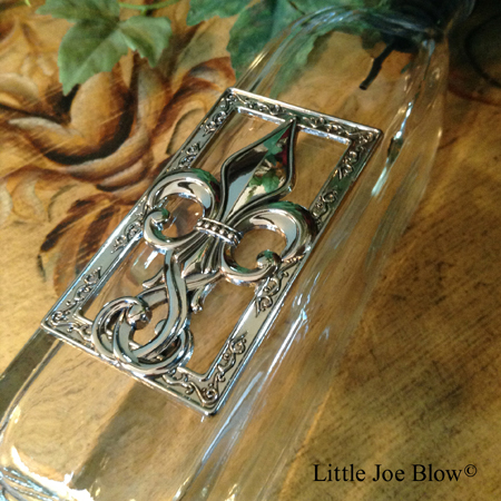 fleur de lis oil bottle by ganz sold by little joe blow photo 2