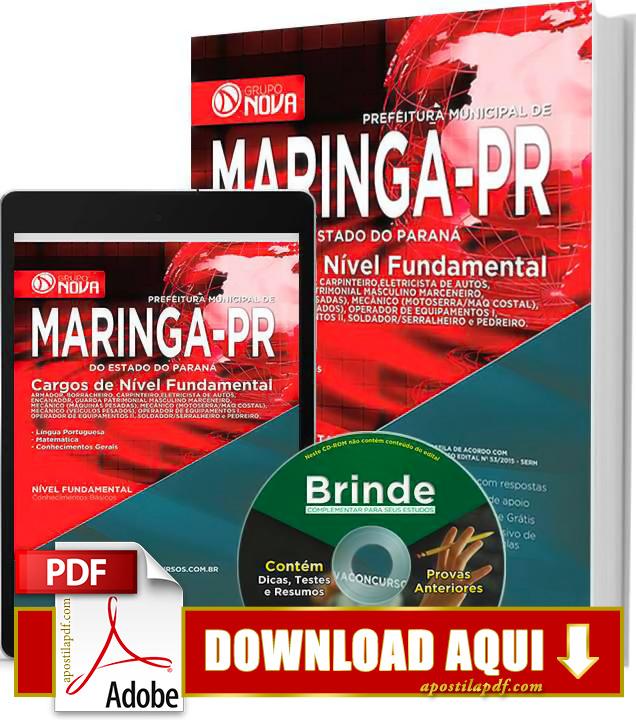 Apostila Maringá 2015 PDF Download Grátis Nível Fundamental