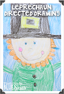 http://firstgradeblueskies.blogspot.com/2015/03/leprechaun-directed-drawing-freebie-and.html