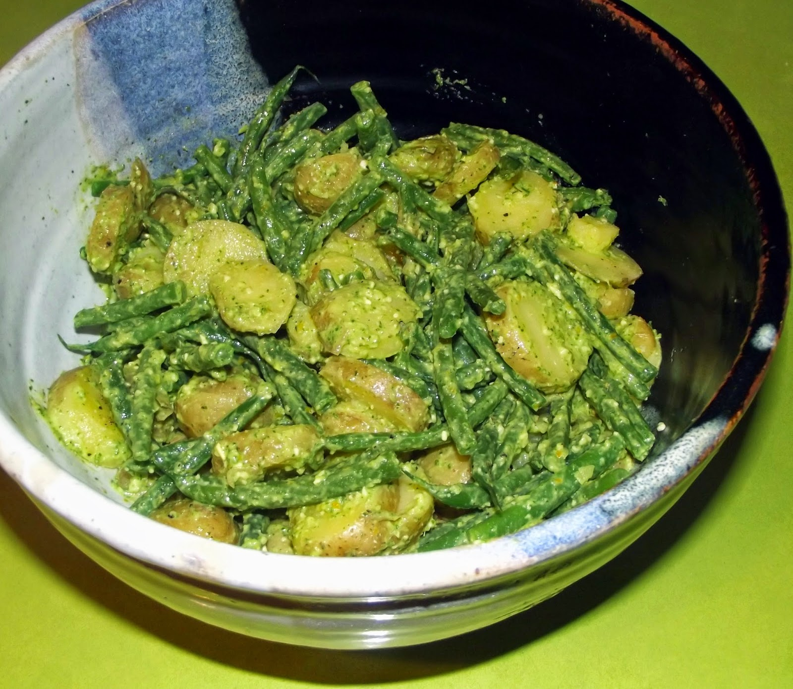 potato salad pesto