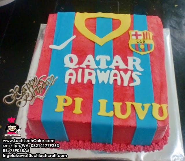 Kue Tart Ulang Tahun Baju Club Barcelona