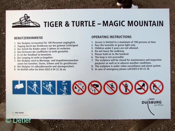 Detlefs Notizblog Tiger Turtle Magic Mountain