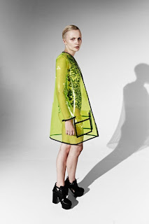 transparent raincoat, neon yellow raincoat