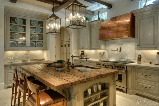 Rustic Kitchen Lighting 554 x 369