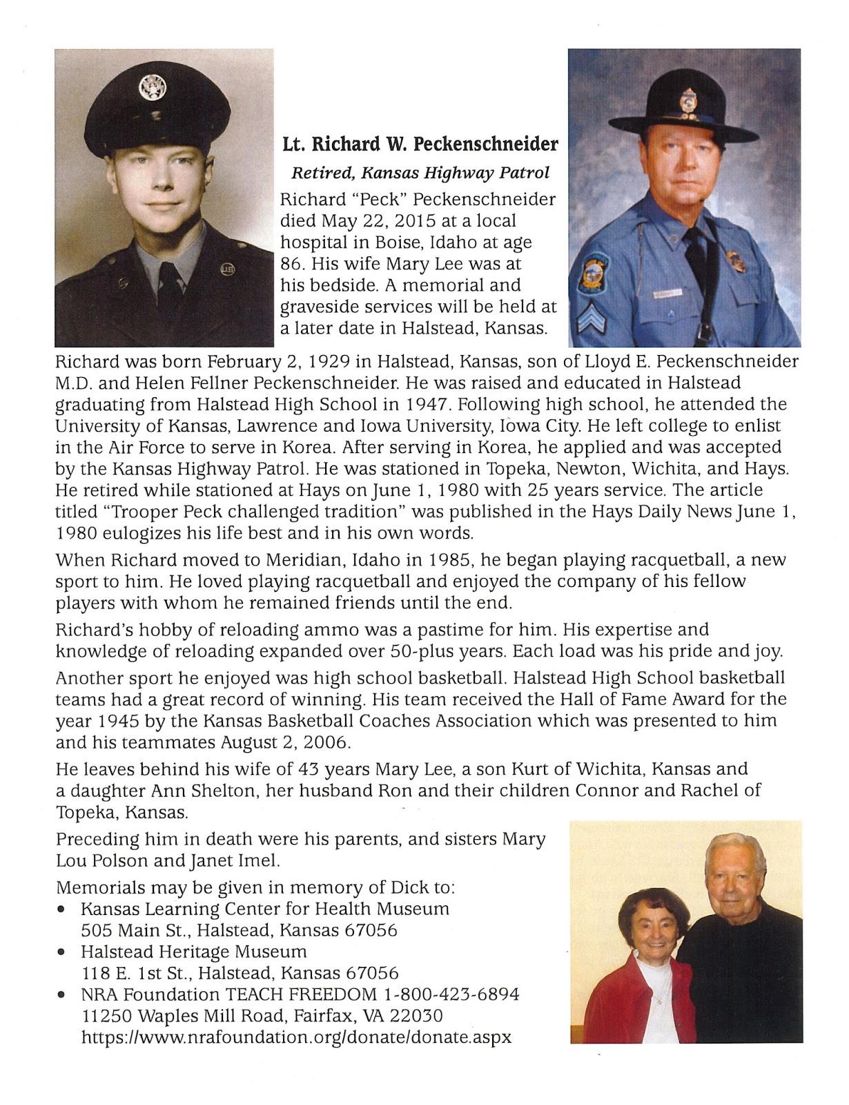 Lt.Richard W. Peckenschneider | Alden-Waggoner Funeral Chapel ...