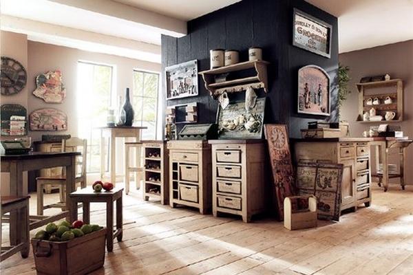 Ilot de cuisine sur roulettes 3123 Amenager cuisine vieux meubles