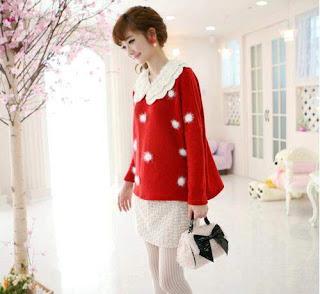 Winter Blouse Merah