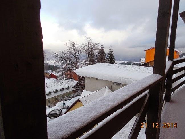 ninsoare in prima zi oficiala de iarna
