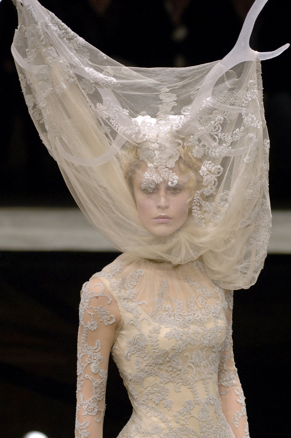 "Alexander McQueen / Savage Beauty / Detail from the ""Widows of Culloden"" Fall/Winter 2006 collection / via fashioned by love British fashion blog"