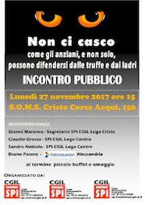CGIL-SPI: Un incontro pubblico per imparare a difendersi dalle truffe e dai ladri