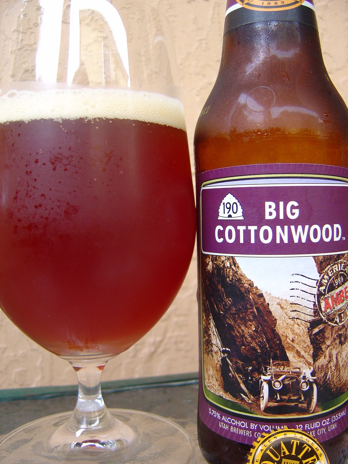 today i m drinking big cottonwood an american amber ale brewed by ...
