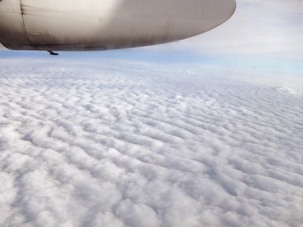 Cityjet Fokker 50 clouds
