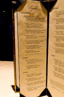 Thyme Menu Left Page