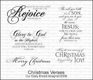Our Daily Bread Designs - Stamps Christmas Verses