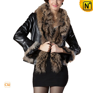 Women Black Sheepskin Jacket