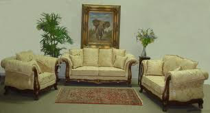 3+2+1 Sofa Set Made Of Shishum Wood With Qutions Rs 42,000 Only