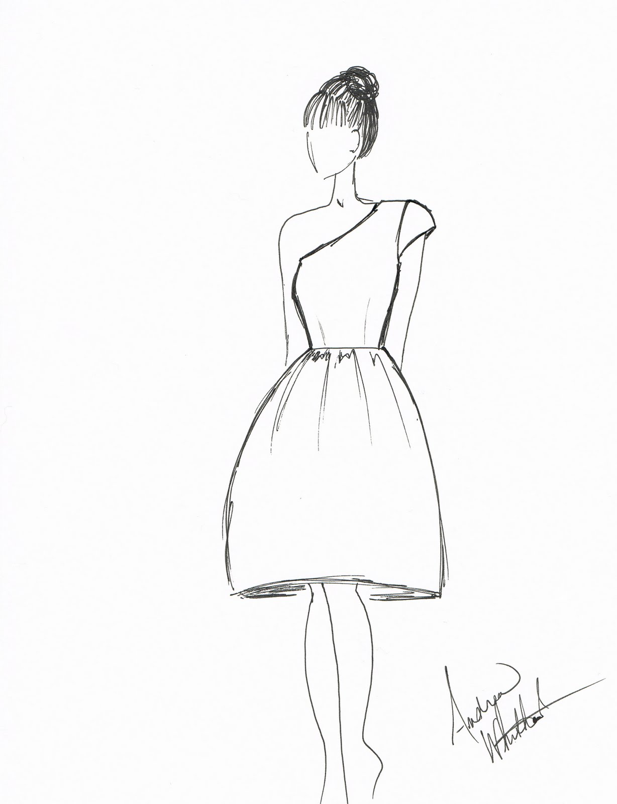 easy dresses to draw