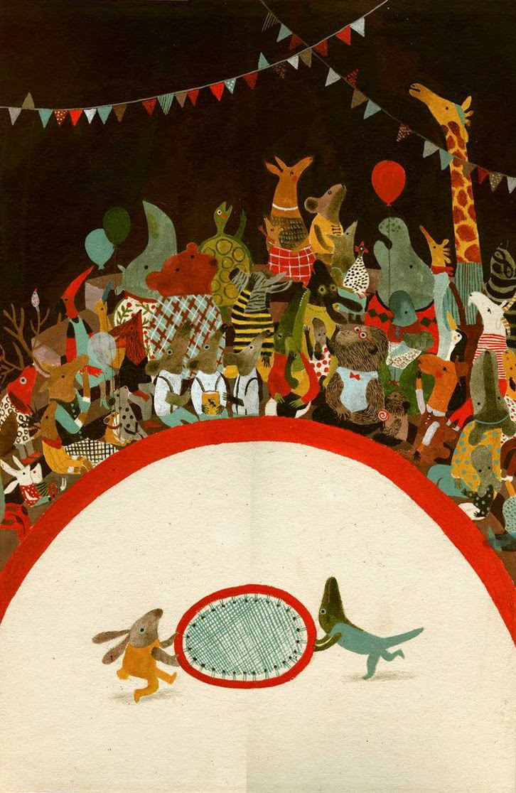 circus animals and audience illustration by Violeta Lopiz