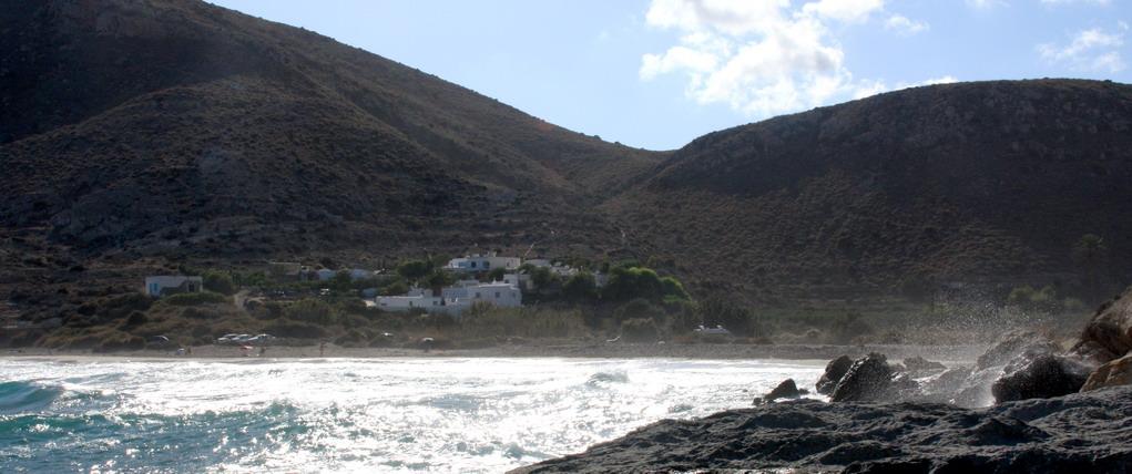 Playa nudista Cala del Plomo (Cabo de Gata, Almería, Andalucía, España)