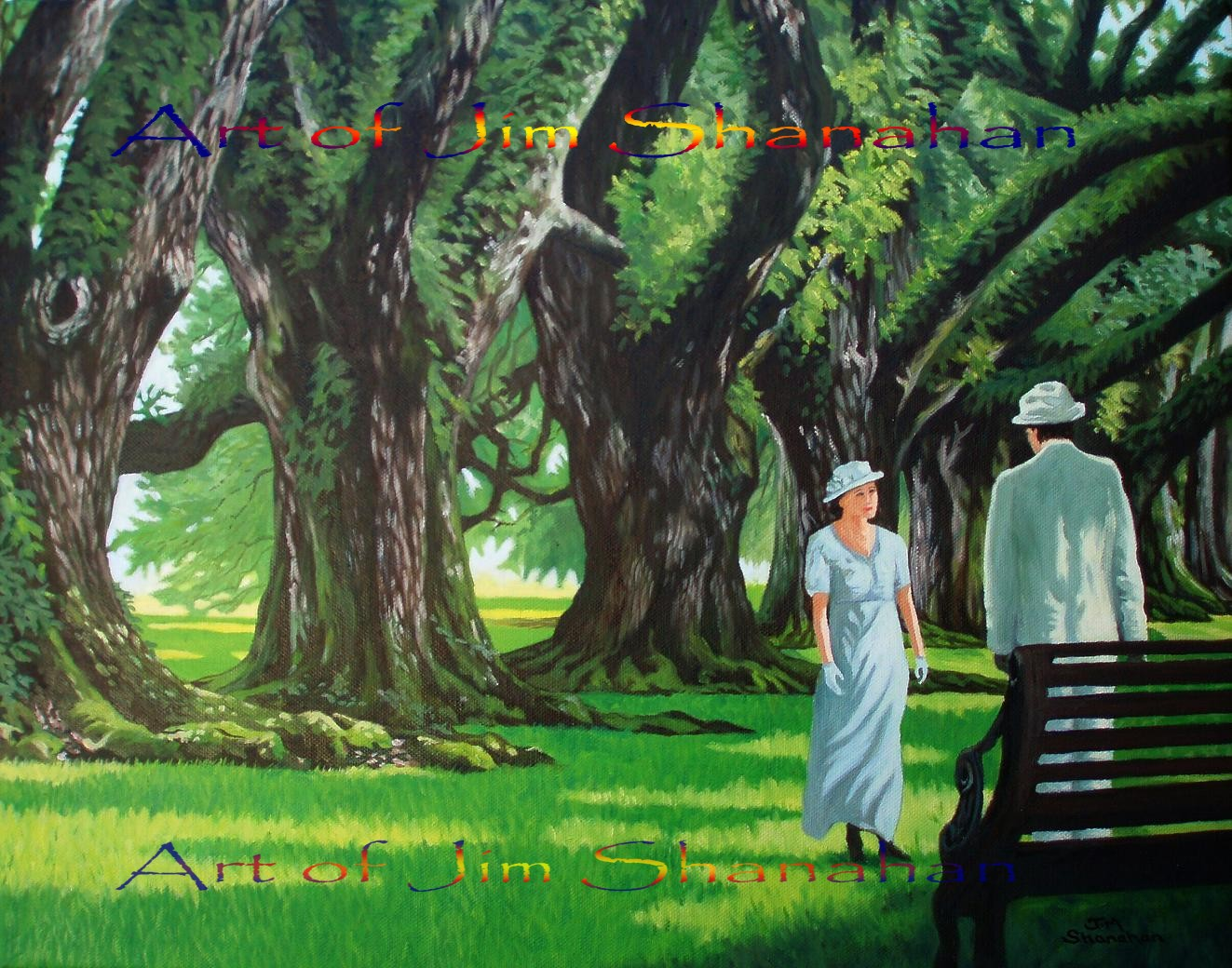 Under the Oaks -- For Sale Framed Euro 500